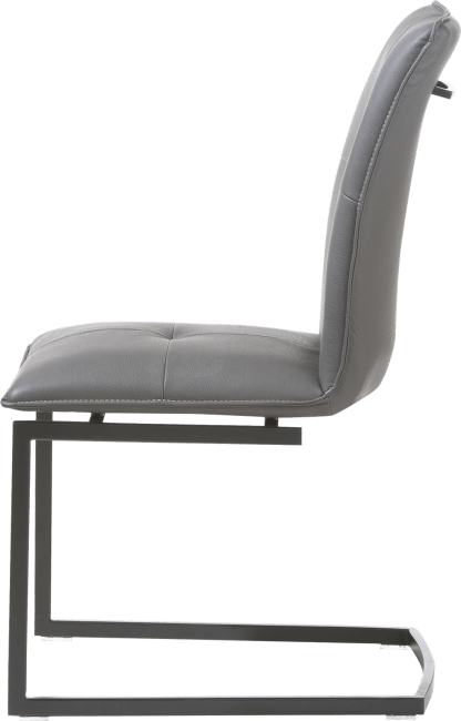 Mitch - chaise pied traineau carre powdercoat - moreno