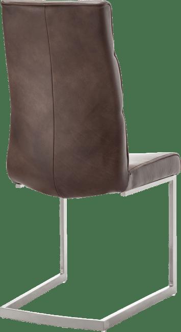 Jascha - eetkamerstoel - swing rvs vierkant