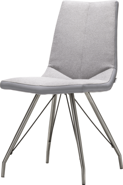 Artella - chaise inox pietement eiffel + combi moreno/forli