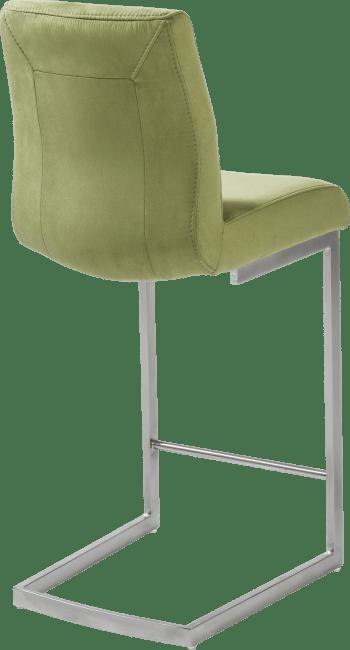 Malene Bar - barstoel - rvs swing vierkant