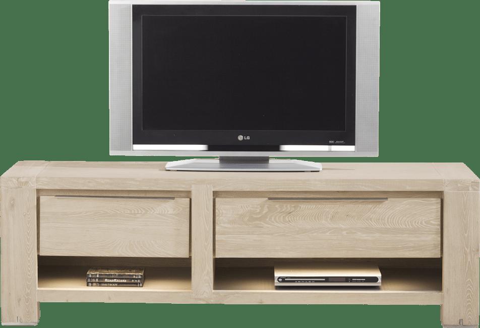 Buckley - meuble tv 150 cm -1-tiroir + 2 niches + 1-porte rabattante (+ led)