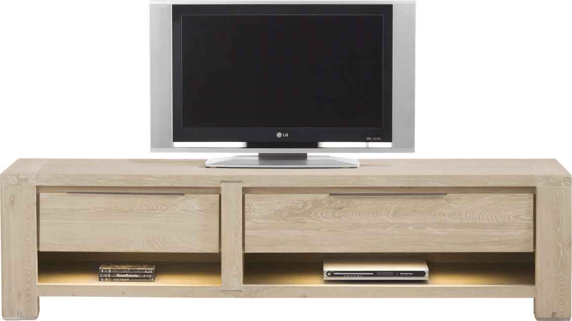 Buckley - meuble tv 180 cm -1-tiroir + 2 niches + 1-porte rabattante (+ led)