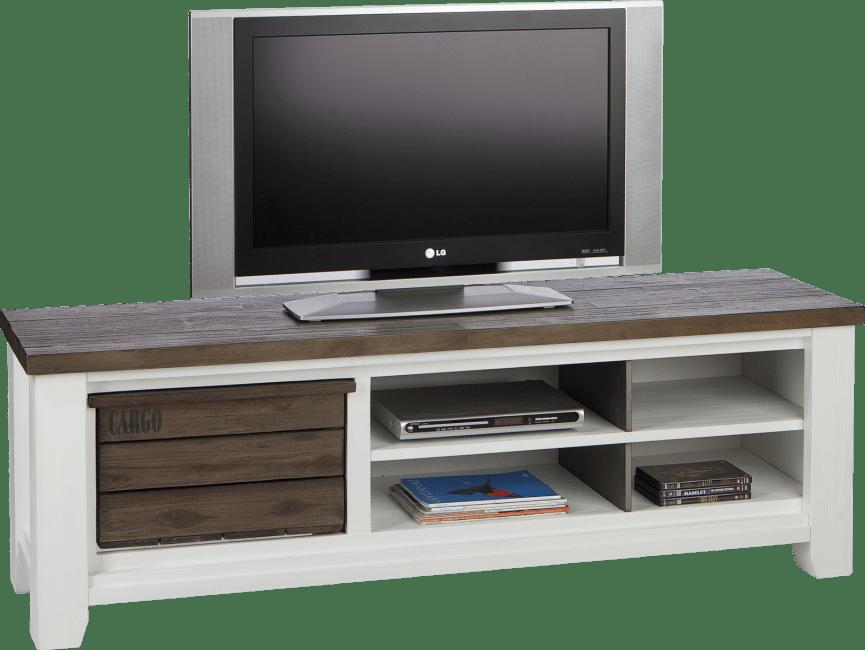 Velasco - tv-sideboard 160 cm - 1-korb + 4-nischen
