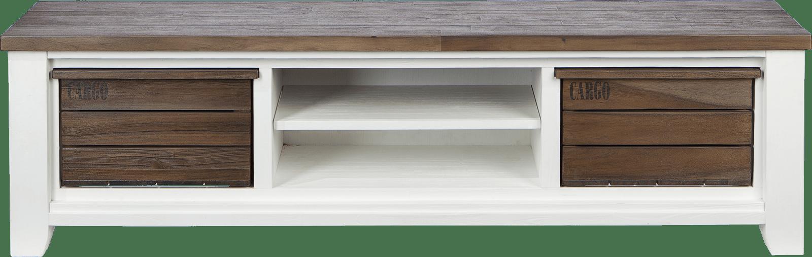 Meuble H Et H velasco meuble tv 190 cm - 2-corbeilles + 2-niches