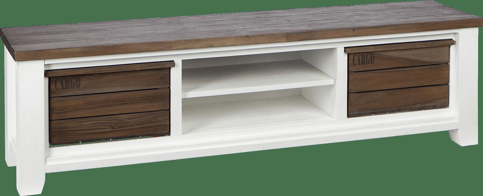 Velasco - tv-dressoir 190 cm - 2-boxen + 2-niches