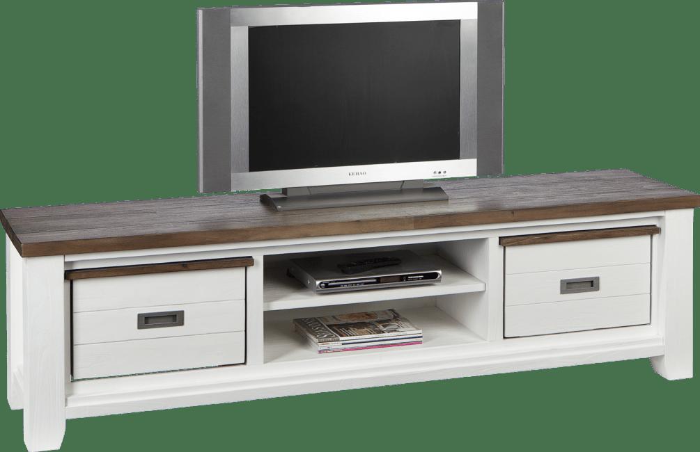 Velasco - tv-sideboard 190 cm - 2-koerbe + 2-nischen