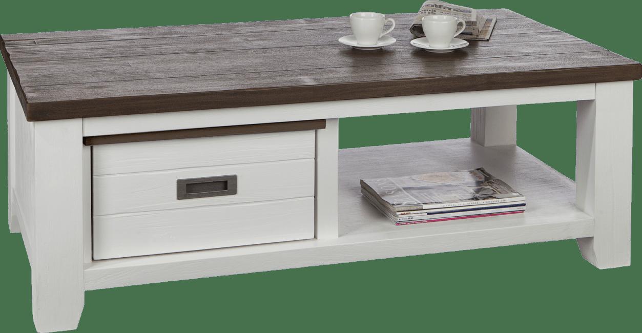 Velasco - table basse 120 x 65 cm + 1-tiroir t&t + 1-niche