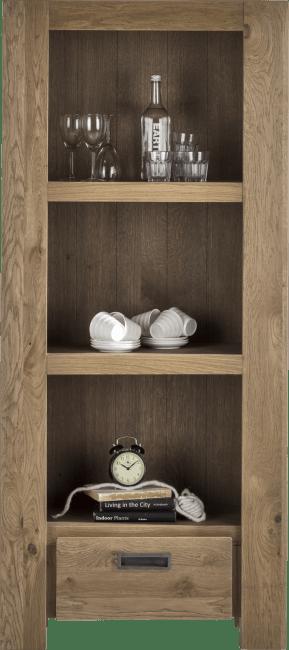 Santorini - boekenkast 1-lade + 3-niches