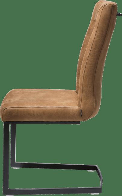 Malvino - stuhl - gestell metall schwarz - swing rechteckig -handgriff recht