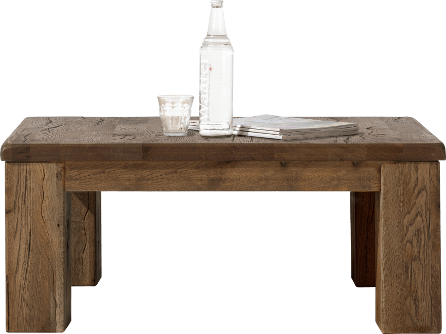 Masters - table basse 90 x 90 cm - bois 12x12/10x14