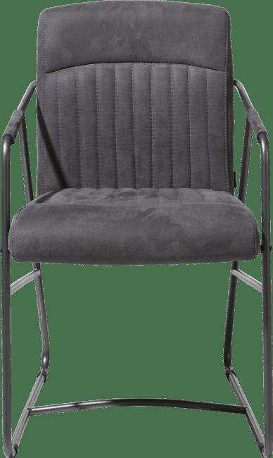 Loet - armlehnstuhl - metal gestell anthrazit farbe - kibo stoff