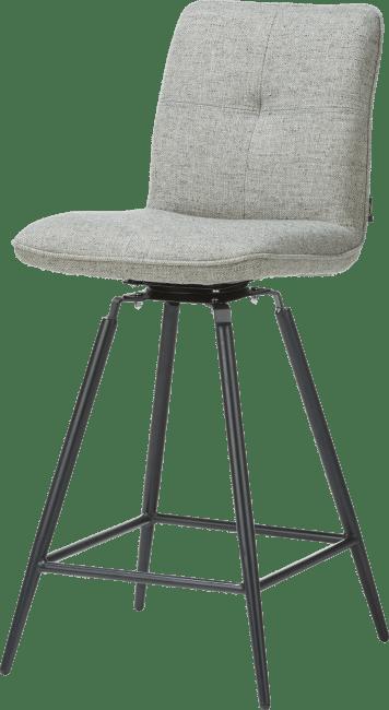 Milva Chaise De Bar Pivotante Pieds Noir