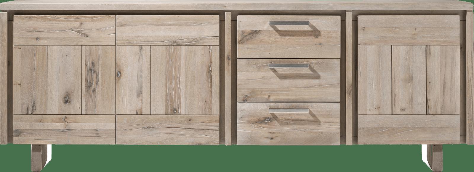 More - dressoir 240 cm - 3-deuren + 3-laden - hout