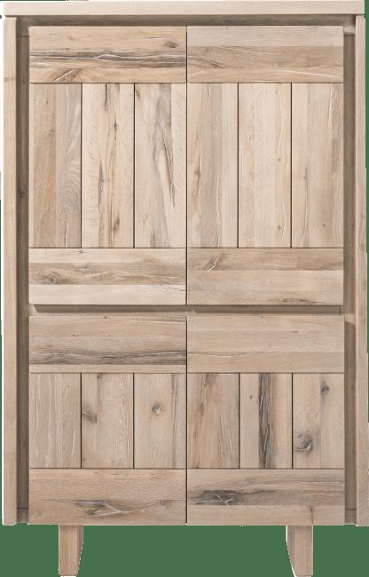 More - bergkast 99 cm - 4-deuren - hout