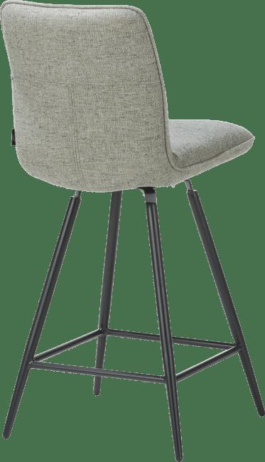 Milva - chaise de bar pivotante - pieds noir