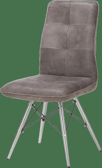 Milan Leder - chaise - pied inox design
