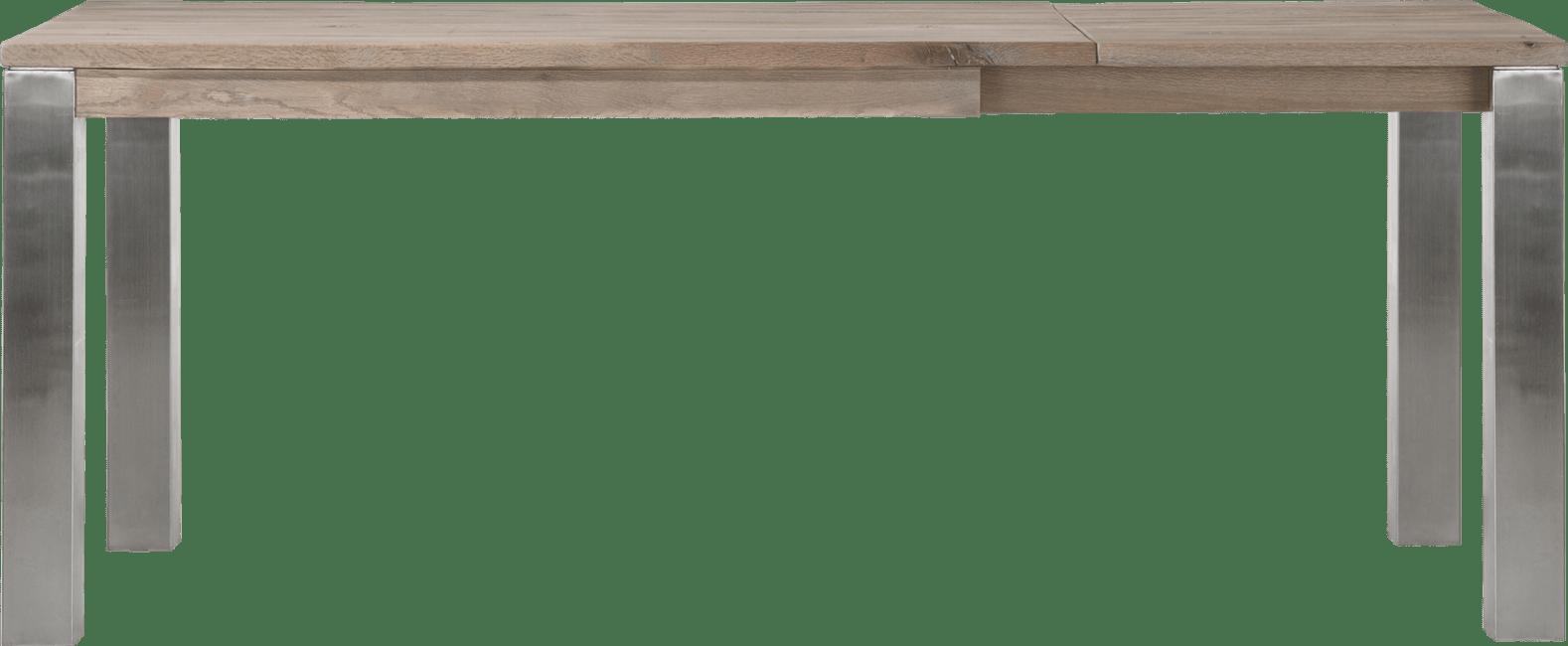 Masters - uitschuiftafel 140 (+60) x 90 cm - rvs 9x9