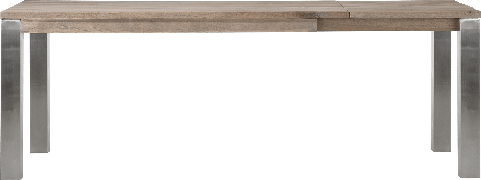 Masters - uitschuiftafel 160 (+ 60) x 90 cm - rvs 9x9