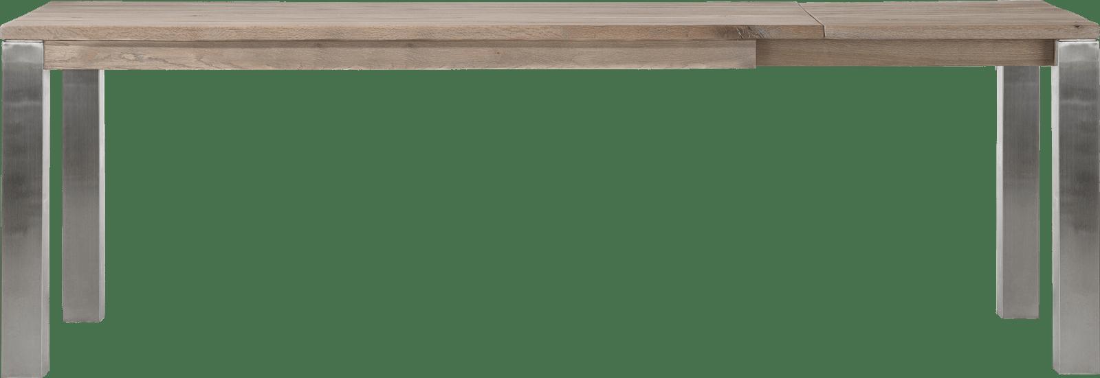 Masters - ausziehtisch 180 (+ 60) x 90 cm - edelstahl 9x9