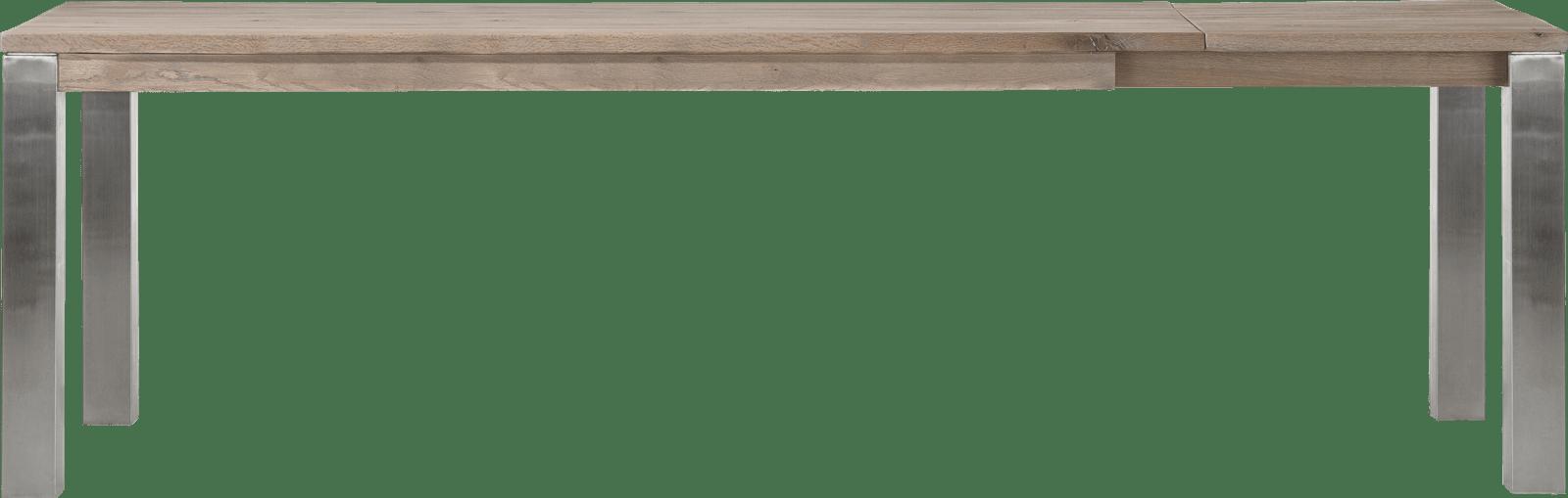 Masters - uitschuiftafel 100 (+ 60) x 200 cm - rvs 9x9