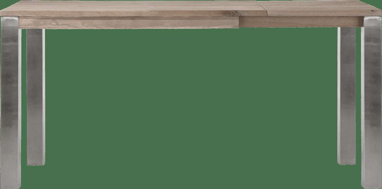 Masters - table bar a rallonge 140 (+ 60) x 90 cm - inox 9x9