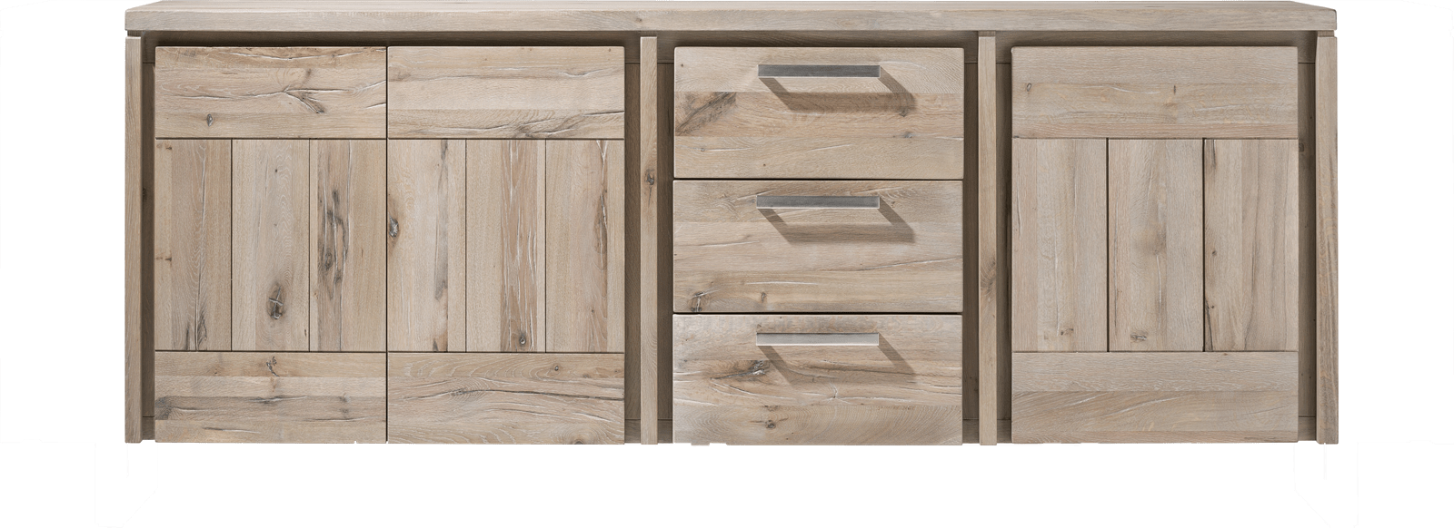 More - sideboard 200 cm - 3-tueren + 3-laden - holz