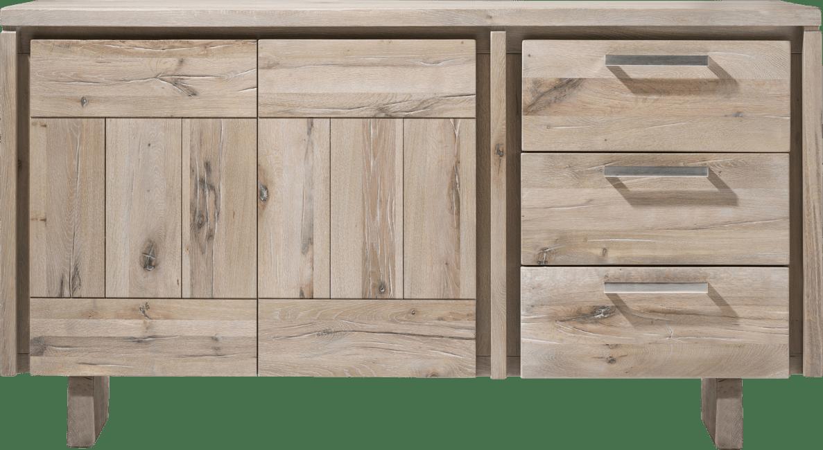 More - dressoir 160 cm - 2-deuren + 3-laden - hout