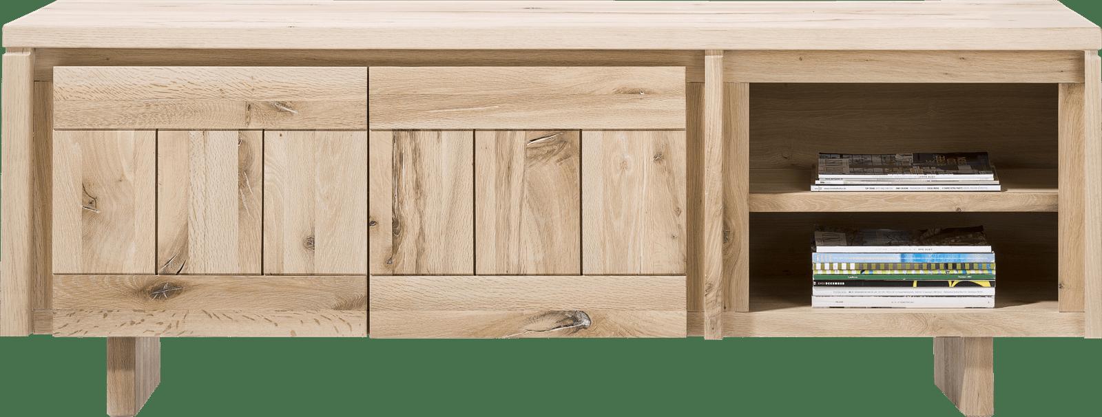 More - lowboard 180 cm - 2-deuren + 2-niches - hout