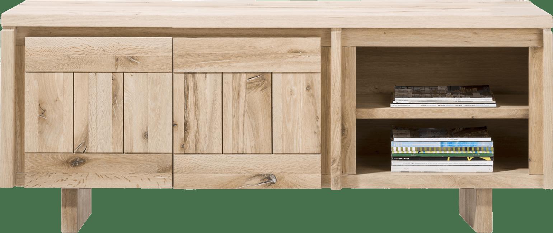 More - lowboard 160 cm - 2-deuren + 2-niches - hout
