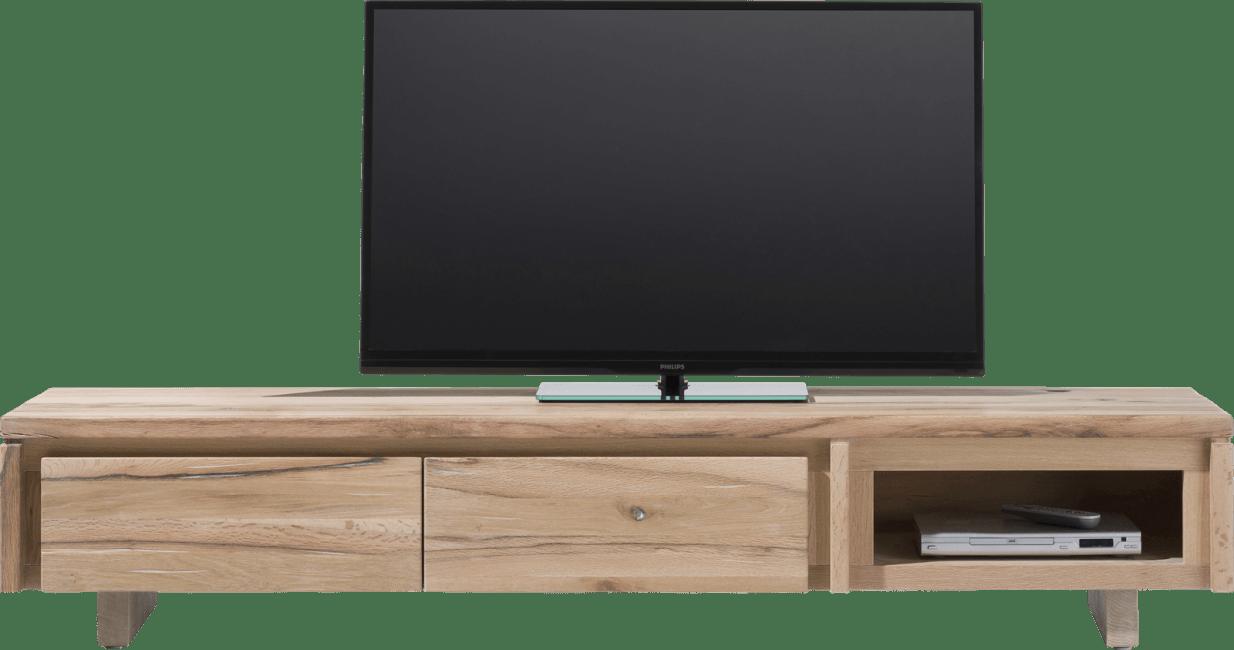 More - tv-dressoir 200 cm - 2-kleppen + 1-niche - hout