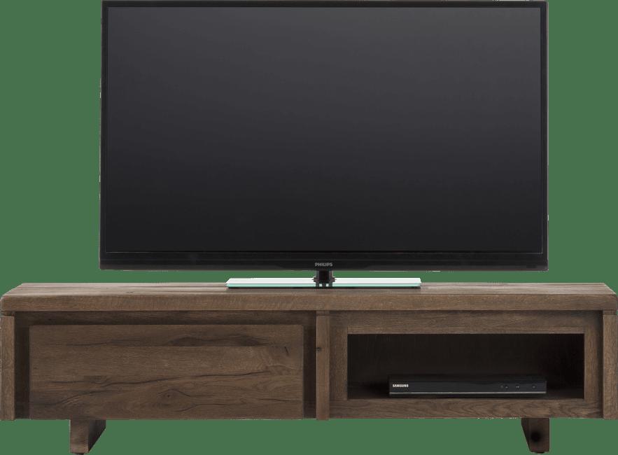 More - tv-dressoir 140 cm - 1-klep + 1-niche - hout