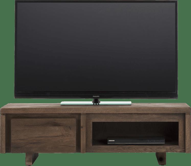 More Meuble Tv 120 Cm 1 Porte Rabattante 1 Niche Bois