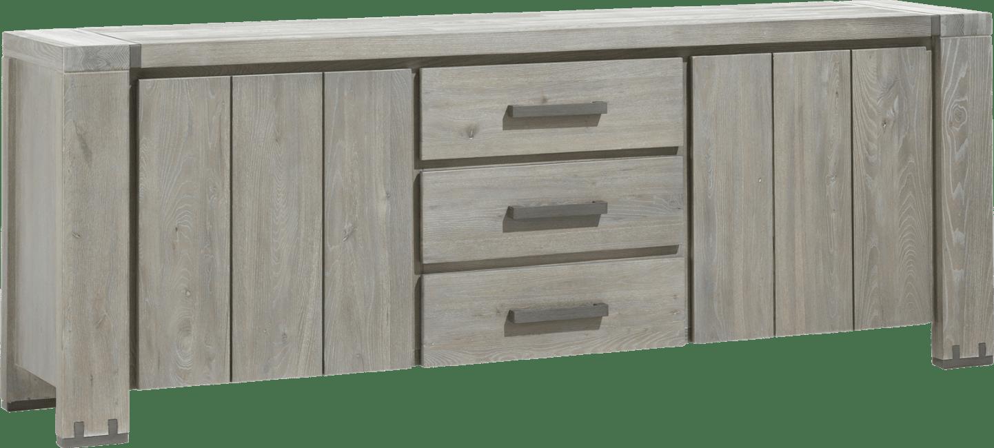 Avola - buffet 220 cm - 2-portes + 3-tiroirs