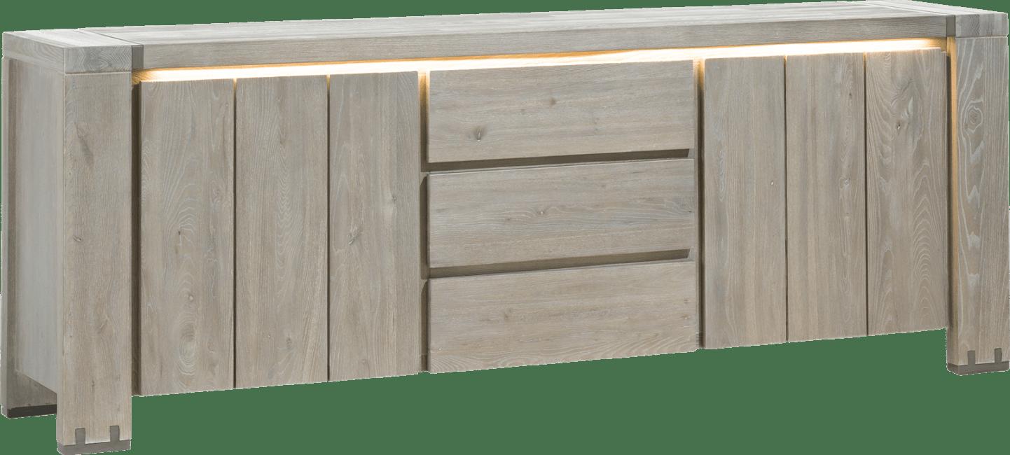 Avola - sideboard 220 cm - 2-tueren + 3-laden
