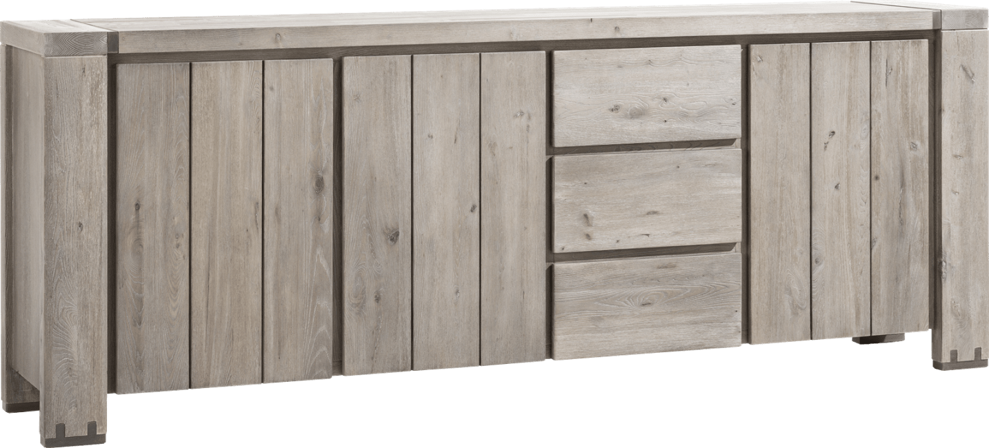 Avola - dressoir 240 cm - 3-deuren + 3-laden