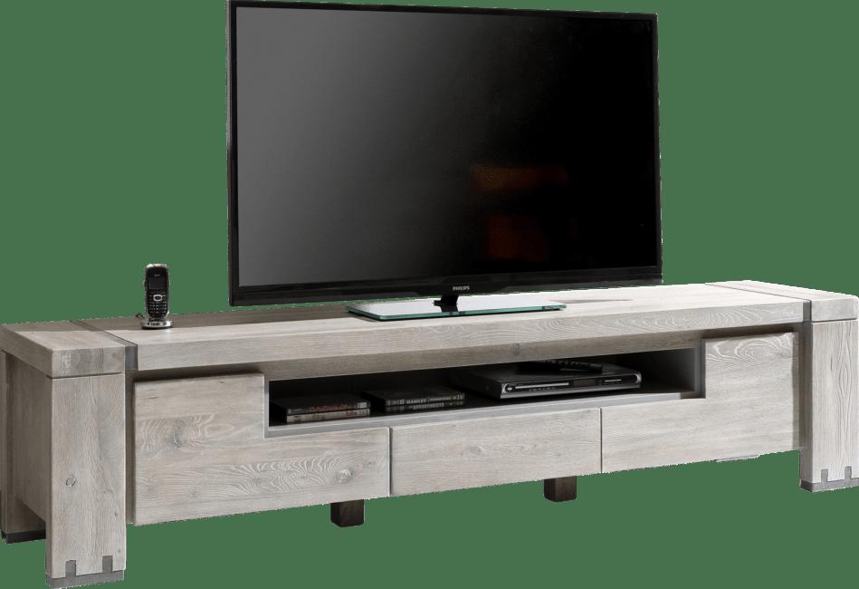 Avola - tv-dressoir 190 cm - 2-kleppen + 1-lade + 1-niche