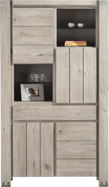 Avola - armoire 4-portes + 1-tiroir + 4-niches
