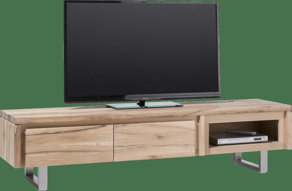 More - tv-dressoir 180 cm - 2-kleppen + 1-niche - rvs