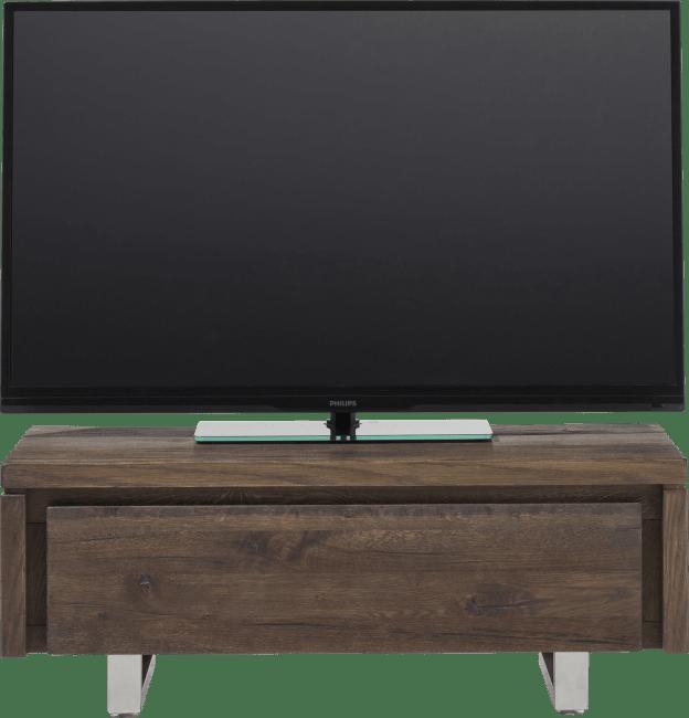 More - tv-dressoir 100 cm - 1-klep - rvs