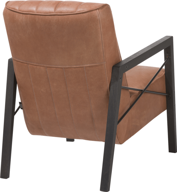 Northon - fauteuil met houten arm vintage clay / white / black