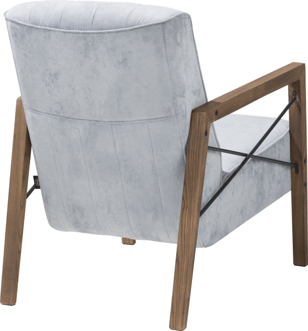 Northon - sessel mit holz armlehne vintage clay / white / black