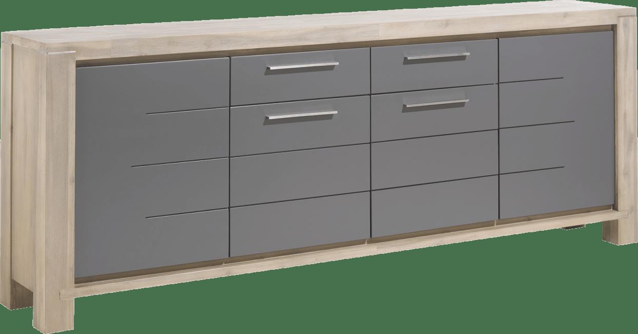 Multiplus - dressoir 240 cm - 4-deuren + 1-lade
