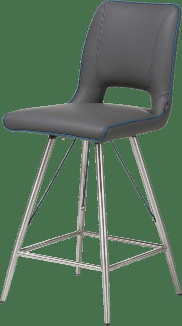 Duncan chaise de bar inox tatra antracite ou tatra charcoal + accent