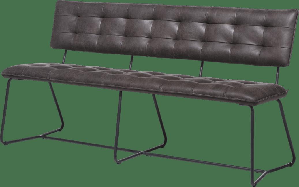 Julien - eetkamer-bankje 160cm. - zwart frame - corsica