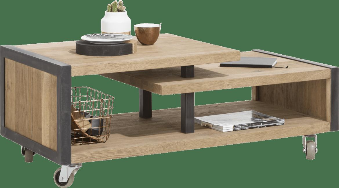 Metalo - salontafel 120 x 60 cm + 1-niche