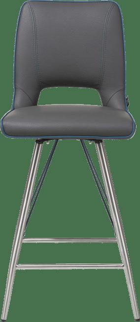 Duncan - chaise de bar inox - tatra antracite ou tatra charcoal + accent