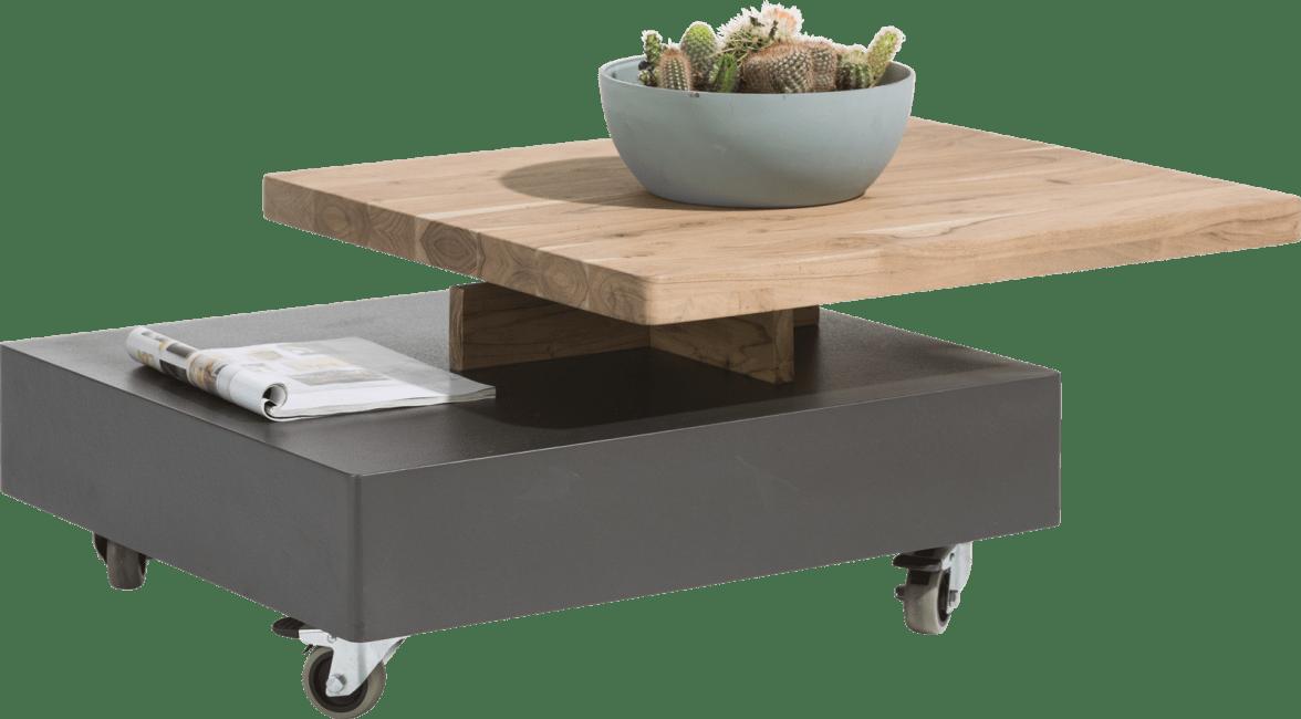 Quebec - salontafel 80 x 70 cm - draaiende top