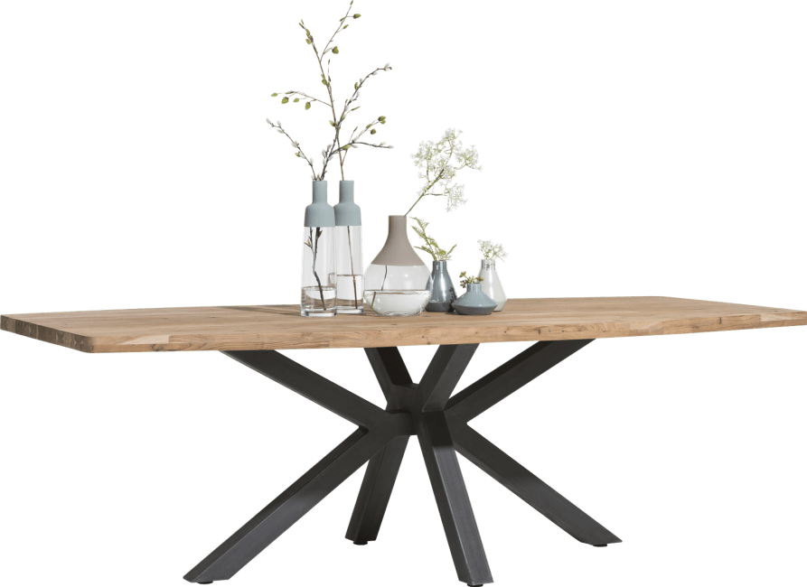 Quebec - table 240 x 110 cm - pieds en metal