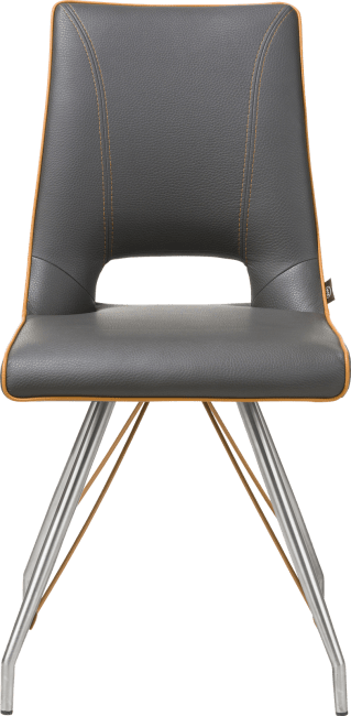Duncan - chaise inox - tatra antracite ou tatra charcoal + accent