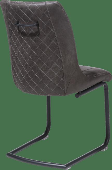 Armin - eetkamerstoel + greep rond - off black frame - stof secillia
